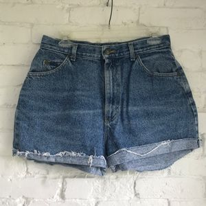 High waisted cutoff jean shorts ~29-30in waist